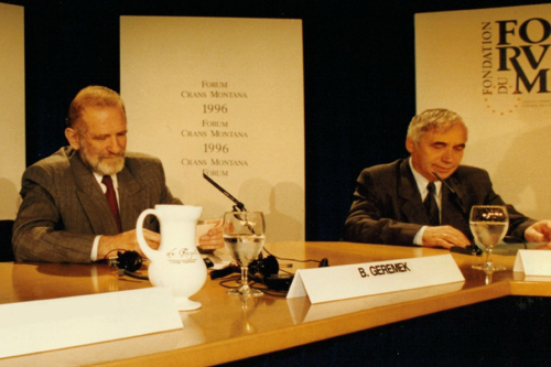 Forum de Crans Montana, Jean-Paul Carteron, Monaco Ambassadors Club, Jelu Jelev, Bronislav Geremek
