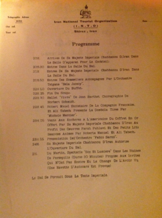 Jean-Paul Carteron, Ashraf Pahlavi, Princesse Soraya, Shah of Iran, Crans Montana Forum, Mehdi Bousheri